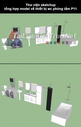 Thư viện sketchup tổng hợp model về thiết bị wc phòng tắm P11