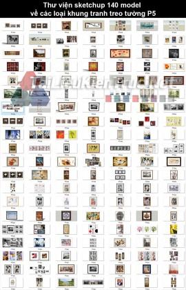 Thư viện sketchup 140 model về các loại Khung tranh treo tường p5