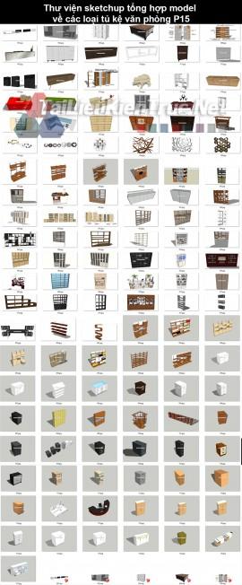 Thư viện sketchup tổng hợp model về các loại Tủ, kệ văn phòng P15