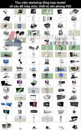 Thư viện sketchup tổng hợp model về các đồ máy móc, thiết bị văn phòng P20