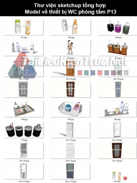 Thư viện sketchup tổng hợp model về thiết bị wc phòng tắm P13