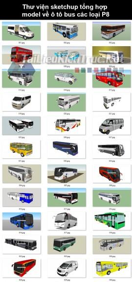 Thư viện sketchup tổng hợp model về ô tô bus các loại P8