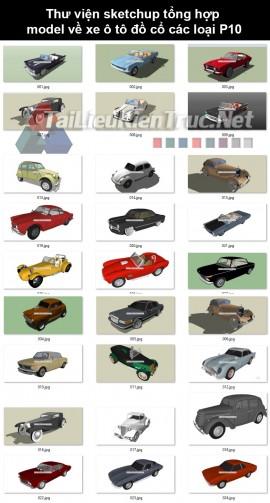 Thư viện sketchup tổng hợp model về xe ô tô đồ cổ các loại P10