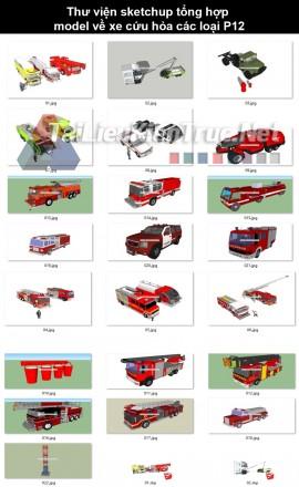 Thư viện sketchup tổng hợp model về Xe Cứu hỏa các loại P12