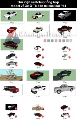 Thư viện sketchup tổng hợp model về Xe ô tô bán tải các loại P14
