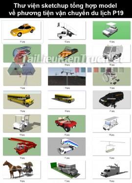Thư viện sketchup tổng hợp model về phương tiện vận chuyển du lịch P19