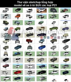 Thư viện sketchup tổng hợp model về Xe ô tô SUV các loại P21