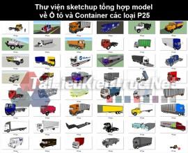 Thư viện sketchup tổng hợp model về Ô tô và Container các loại P25