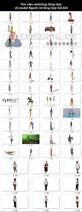 Thư viện sketchup tổng hợp về model Người 3d tổng hợp full 043