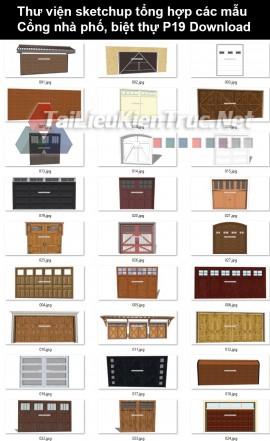 Thư viện Sketchup tổng hợp các mẫu Cổng nhà phố, biệt thự P19 Download