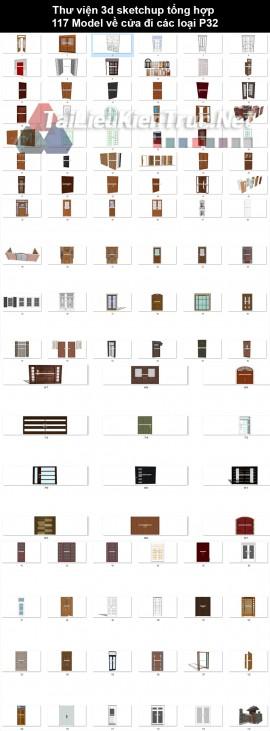 Thư viện 3d sketchup tổng hợp 117 Model về cửa đi các loại P32