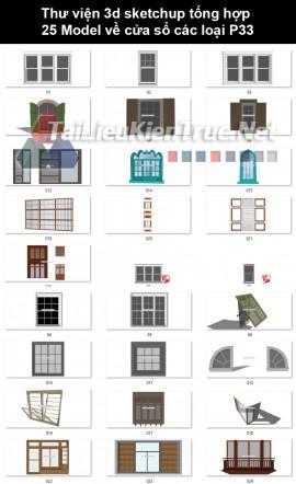 Thư viện 3d sketchup tổng hợp 25 Model về cửa sổ các loại P33
