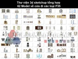 Thư viện 3d sketchup tổng hợp 62 Model về cửa đi các loại P35