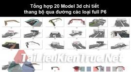 Tổng hợp 20 Model 3d chi tiết thang bộ qua đường các loại full P6