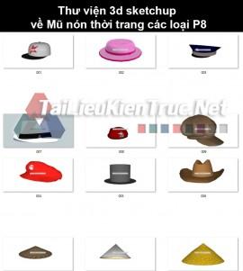 Thư viện 3d sketchup về Mũ nón thời trang các loại P8