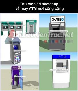 Thư viện 3d sketchup về máy ATM nơi công cộng