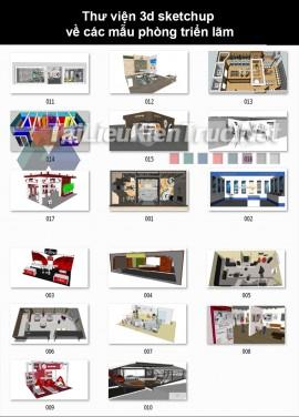Thư viện 3d sketchup về các mẫu phòng Triển Lãm