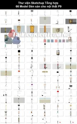 Thư viện Sketchup Tổng hợp 96 Model Đèn sàn cho nội thất P9