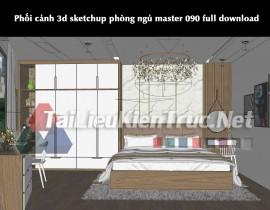 Phối cảnh 3d sketchup phòng ngủ master 090 full download