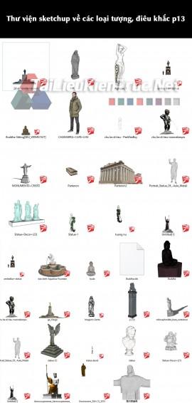 Thư viện sketchup về các loại tượng, điêu khắc p13