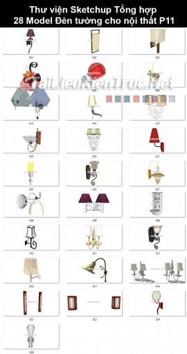 Thư viện Sketchup Tổng hợp 28 Model Đèn tường cho nội thất P11