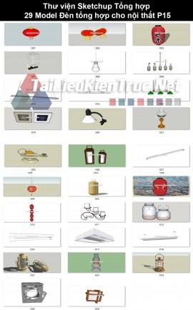 Thư viện Sketchup Tổng hợp 29 Model Đèn tổng hợp cho nội thất P15
