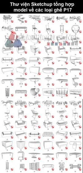 Thư viện sketchup tổng hợp model về các loại ghế P17