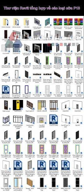 Thư viện Revit tổng hợp về các loại cửa P13