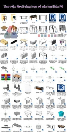 Thư viện Revit tổng hợp về các loại Bàn P6