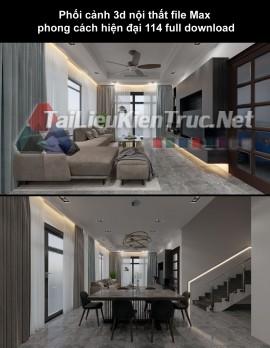 Phối cảnh 3d nội thất file Max phong cách hiện đại 114 full download