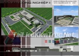 Đồ án công nghiệp 1 - Nhà máy lắp ráp điện tử Full (Cad, max, Jpg) download