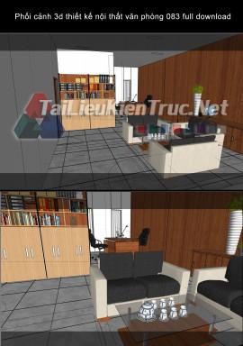 Phối cảnh 3d thiết kế nội thất văn phòng 083 full download