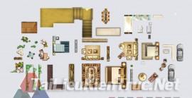 Thư viện mặt bằng Photoshop tổng hợp về Các loại đồ đạc trong nhà 041 download