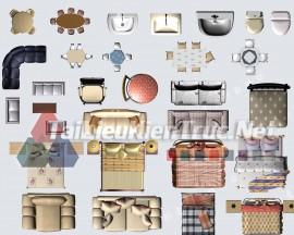 Thư viện mặt bằng Photoshop tổng hợp về Các loại đồ đạc trong nhà 042 download