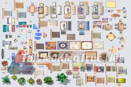 Thư viện mặt bằng Photoshop tổng hợp về Các loại đồ đạc trong nhà 043 download
