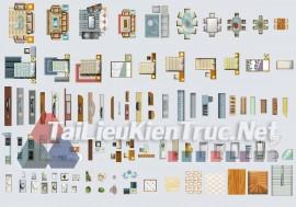 Thư viện mặt bằng Photoshop tổng hợp về Các loại đồ đạc trong nhà 047 download