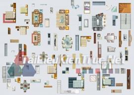 Thư viện mặt bằng Photoshop tổng hợp về Các loại đồ đạc trong nhà 048 download