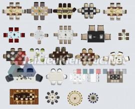 Thư viện mặt bằng Photoshop tổng hợp về Các loại đồ đạc trong nhà 056 download