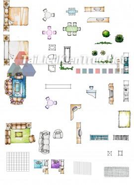 Thư viện mặt bằng Photoshop tổng hợp về Các loại đồ đạc trong nhà 059 download