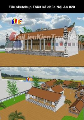File sketchup Thiết kế chùa Nội An 020