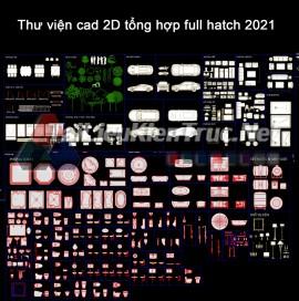 Thư viện cad 2D tổng hợp full hatch 2021