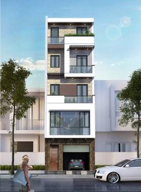 Hồ sơ thiết kế nhà phố 6 tầng diện tích 3,96x6,9m hiện đại 114 full bản vẽ kiến trúc