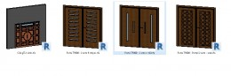 Bản vẽ revit chi tết 4 loại Cửa gỗ 2 cánh