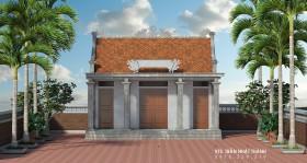 Hồ sơ thiết kế nhà thờ họ mẫu số 006