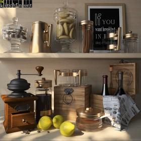 Thư viện 3dsmax model Kitchen Set