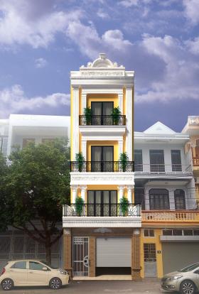 Thư viện 3dsMax Phối cảnh công trình Nhà phố phong cách Tân cổ điển pháp cổ 031