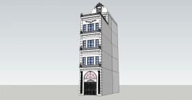 Thư viện 3d Sketchup Phối cảnh công trình Nhà phố phong cách Pháp 021