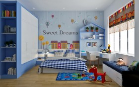 Sence Phòng Ngủ trẻ con 00012 - Thiết kế nội thất phong cách hiện đại