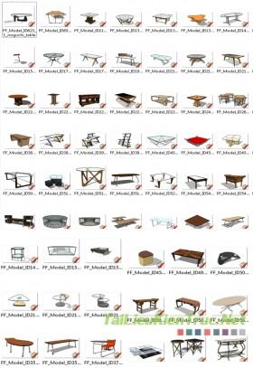 Thư viện Sketchup - Model 3D Bàn Nước 0002