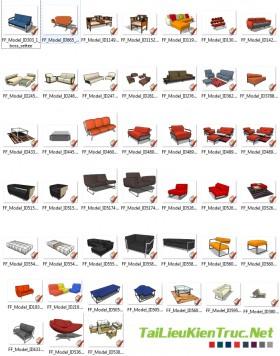 Thư viện Sketchup - Model 3D Sofa 0004